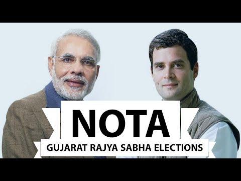 NOTA Rajya Sabha Issue - Gujarat Rajya Sabha elections - Ahmad Patel / Smriti Irani / Amit Shah