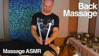 ASMR Back Massage for Lower & Upper Back + Weighted Tuning Forks