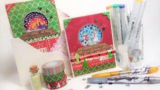 Snowglobe Shaker Gift Card Holder & Dimensional Envelope Box Tutorial