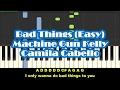 Machine Gun Kelly & Camila Cabello - Bad Things Easy Piano Tutorial