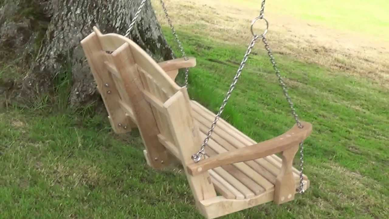 How To Hang A Swing Seat From A Tree.   YouTube
