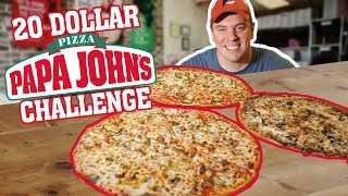 Papa John's Pizza Challenge w/ 3 Large Pizzas!! (Carry Out Special)