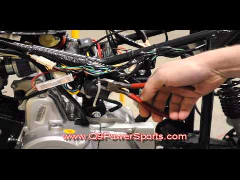 Troubleshooting a starter Relay  Starter on Chinese Gas Powered Four  Wheeler Q9 PowerSports USA