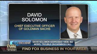 Goldman Sachs CEO David Solomon addresses 1MDB scandal, business model on earnings call