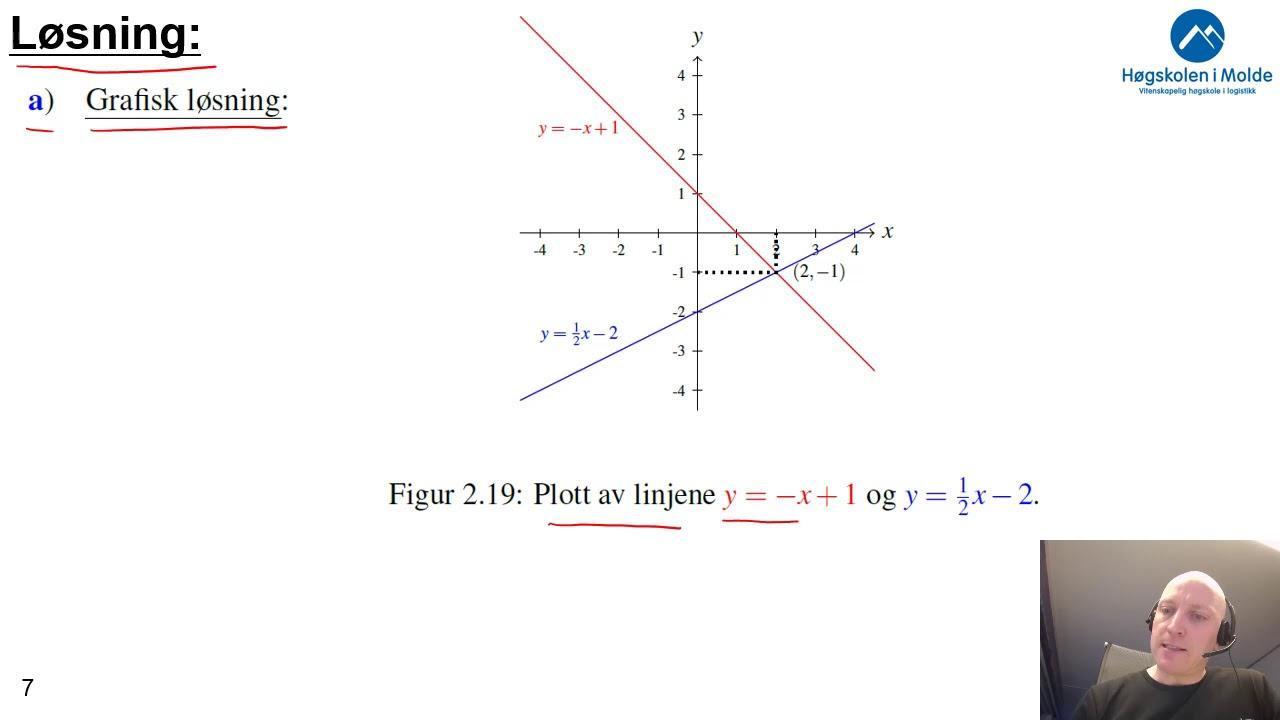 Uke 3.5  Lineære ligninger