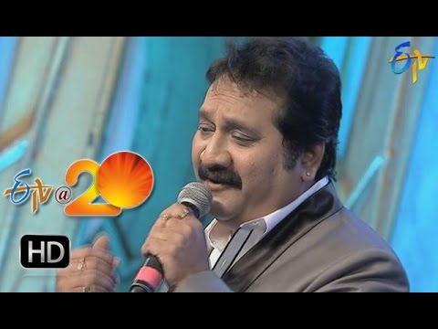 Mano Performance   Ye Divilo Virisina Paarijaatamo Song in Sattenapalli ETV @ 20 Celebrations