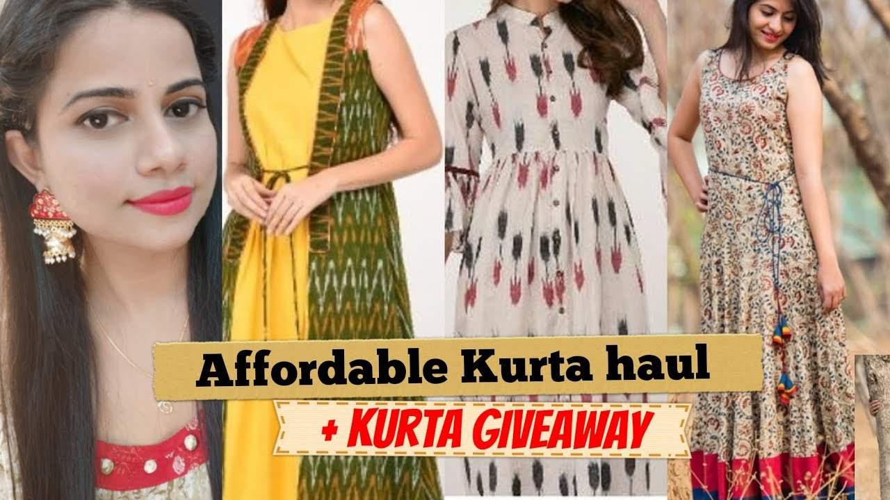 f34a04c9ee AFFORDABLE INSTAGRAM KURTI HAUL | ❤ KURTA GIVEAWAY | Sana K - YouTube
