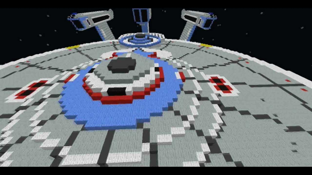how to build the enterprise d in minecraft