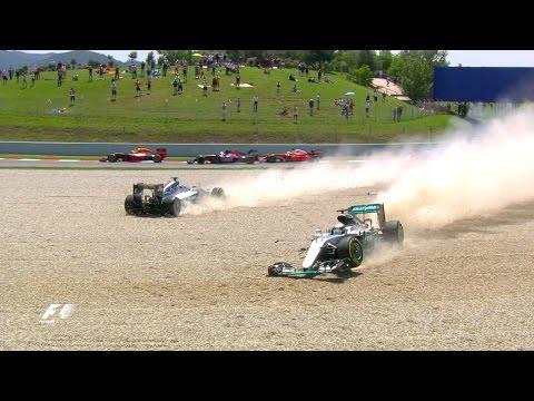 Rosberg And Hamilton Collide | Spanish Grand Prix 2016
