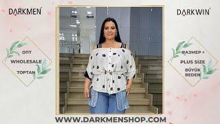 Модна и комфортная женская одежда большого размера DARKWIN от DARKMEN Турция Стамбул Опт