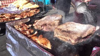 Argentina Street Food. Big Grill of Beef and More Meat. London