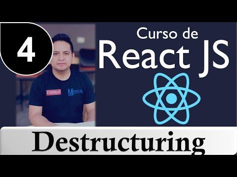 04 - Curso de Reactjs [ Tutorial Reactjs ] - Destructuring thumbnail