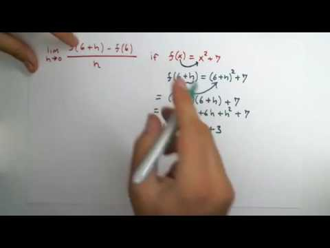How to evaluate the limit definition of a derivative