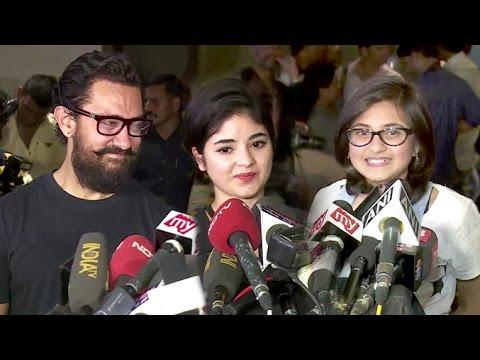 Aamir Khan's CUTE Little Daughters/Actress In DANGAL Movie Zaira Wasim & Suhani Bhatnagar