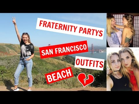 WEEKEND in my LIFE in California - PARTY, OUTFITS, TRAVEL, SAN FRANCISCO