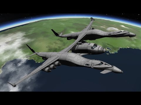 Virgin Galactic Unity Launches to the Kerbin ISS