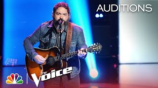 """The Voice 2018 Blind Audition - Dave Fenley: """"Help Me Hold On"""""""