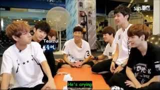 eng sub bts funny moment v eating a jelly with a heavy fork