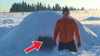 'Выживание' зимой в лесу. БЕРЛОГА(квинзи, снежанка, иглу). Укрытие из рыхлого снега (часть 1)