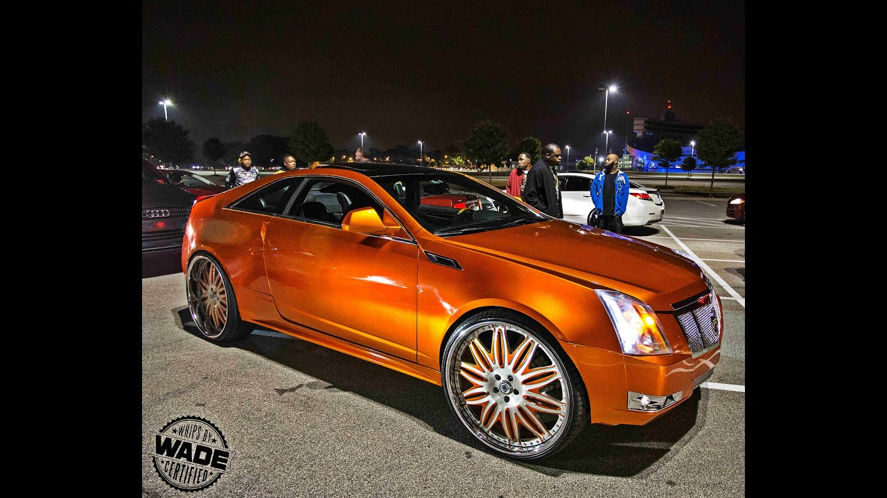 Stuntmania 2015 Candy Orange Cadillac Cts On 26 Quot Wheels