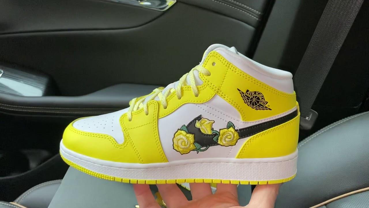 Air Jordan 1 Mid Dynamic Yellow Floral