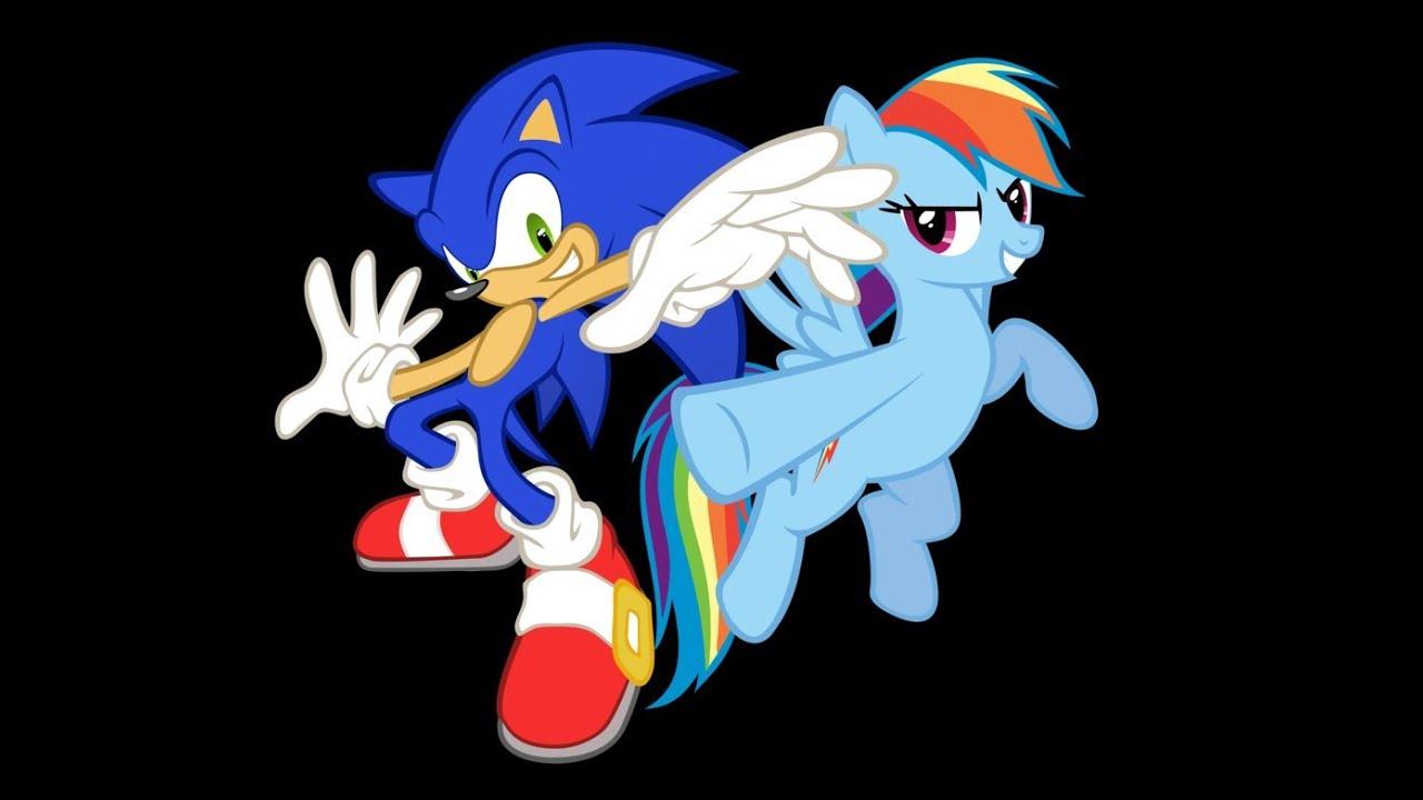 Rainbow Dash And Sonic Kiss sonic & rainbow dash - episode 1 - youtube