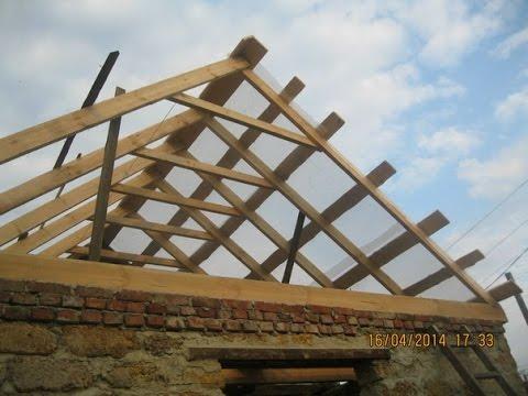 видео: Как Строить крышу своими руками. . Монтаж стропил.