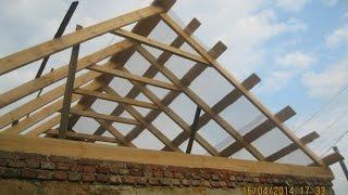 видео Как сделать двухскатную крышу дома