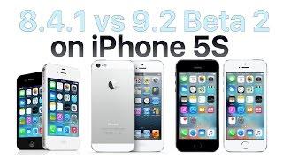 iPhone 5S iOS 8.4.1 vs iOS 9.2 Beta 2 / Public Beta 2 (Build # 13C5060d)