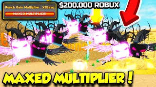 I Spent $200,000 ROBUX On The MAXED MULTIPLIER In Strongest Punch Simulator!! (Roblox) screenshot 3
