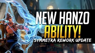 Overwatch NEW HANZO ABILITY - First Look! & Symmetra and Torbjorn Rework Updates