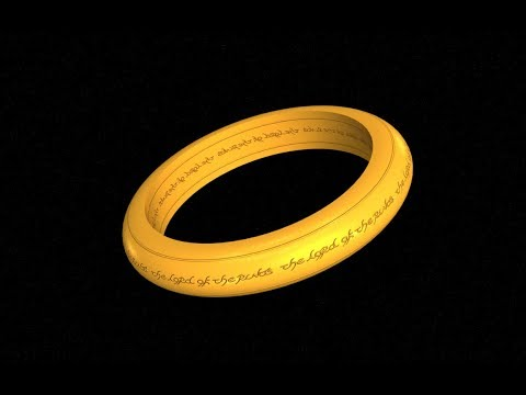 Making A Lord Of The Rings 3D Ring In Photoshop