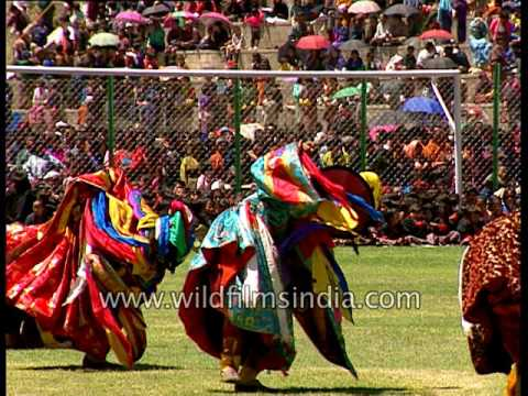 Colour and pomp: Royal dance display from Bhutan