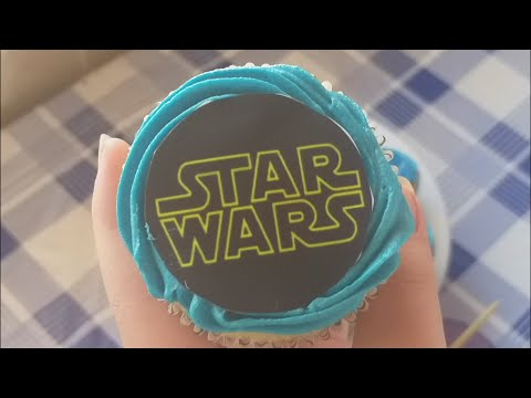 Star Wars Cupcakes (edible paper and ink) (quick and easy) (simple recipe) | Just Anya