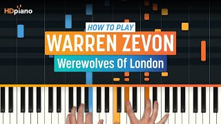 "How To Play ""Werewolves Of London"" by Warren Zevon 