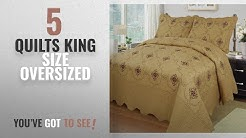 Top 10 Quilts King Size Oversized [2018]: MarCielo 3-Piece Fully Quilted Embroidery Quilts