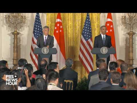 Watch full news conference with President Obama and Singapore PM Lee