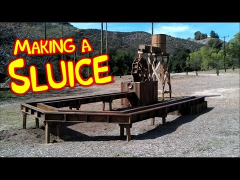 Making A Kids Gold Panning Sluice Box - Old West Mining Town