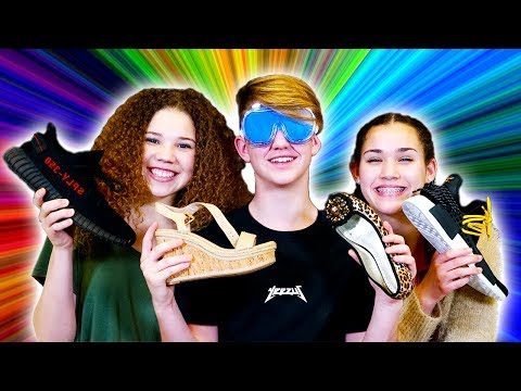 Thumbnail: GUESS THE SHOE... PRANK! (MattyBRaps vs Gracie & Madison Haschak)
