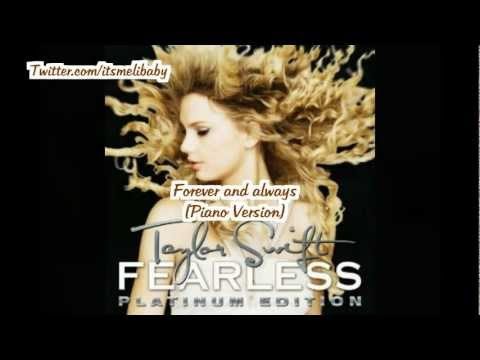 Taylor Swift - Forever and Always (Piano Version) Lyrics
