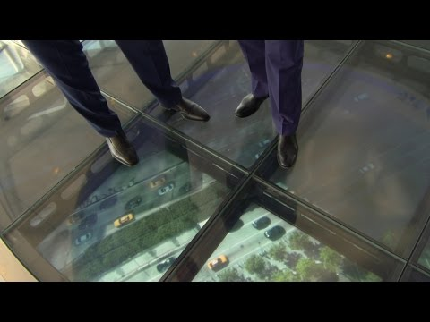 Take a ride through time in One World Trade Center elevators
