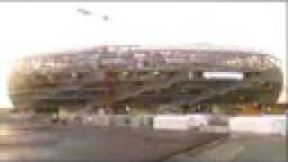 Bau der Allianz Arena in München