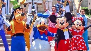 Disneyland's 62nd birthday celebration with Mickey Mouse, Dapper Dans, many more friends