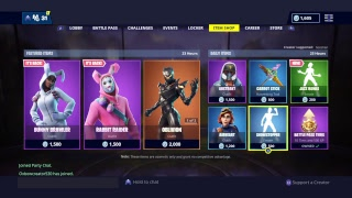 New Fortnite Iteam Shop Countdown!!! Giving away skin at 100 subs