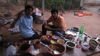Village food factory / Pani Puri - Bhel Puri Recipes Cooking by my Family in my village/Village food