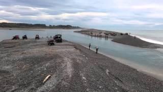 salmon fishing rangitata river mouth new zealand
