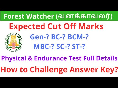 Forest Watcher Expected Cut Off Marks Full Analysis