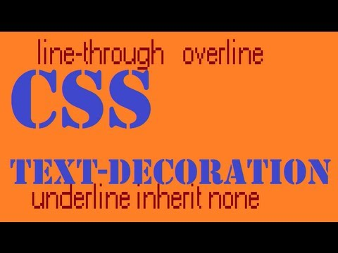 CSS how to: text-decoration