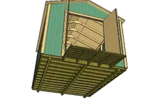 10x12 Gable Storage Shed Plans by shedking.net - YouTube