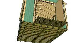 10x12 Gable Storage Shed Plans By Shedking.net